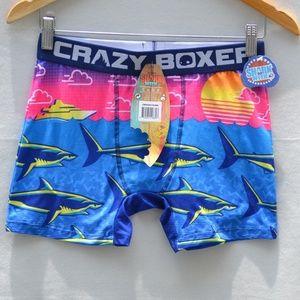 CRAZY BOXER Shark Week Beach Sunset Boxer Briefs